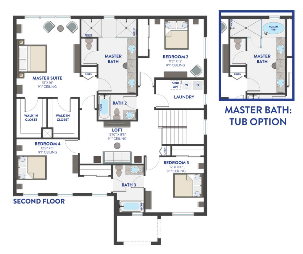 Second Floor Floorplan