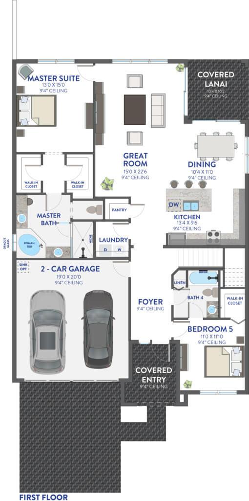 First Floor (Sonoma Grand) Floorplan